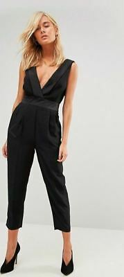 8f07cf13e779 ASOS Women s Black Tuxedo Jumpsuit Size US 4 fits US 6--Prom  formal