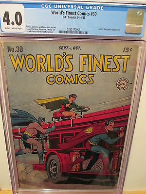 World's Finest Comics 30  CGC 4.0  (COMBINED SHIPPING)  (AUCTION #22)