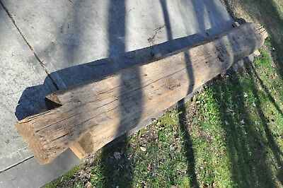 "Antique 1800's Rustic Reclaimed hand hewn Wood Beams/Logs 5-1/2"" x 14"" x 12'"