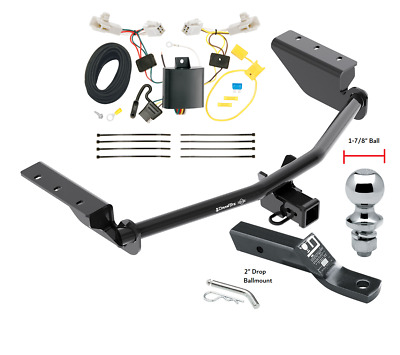 "Complete Trailer Hitch Tow Pkg w/ Wiring Kit For 13-18 Toyota RAV4 1-7/8"" Ball"
