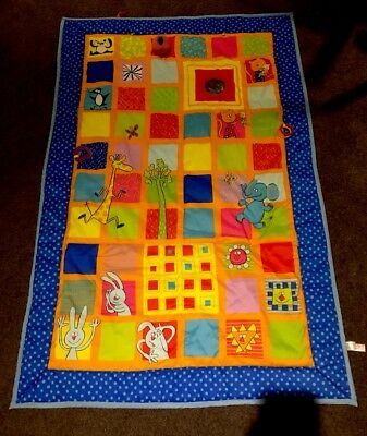 Extra Large Padded Baby Play Mat, Taf Toys, Colourful Illustrations & Sensory