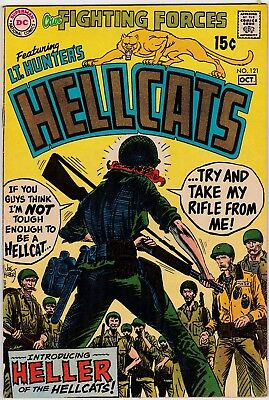 Our Fighting Forces #121 F+ 1969 Lt Hunter+Hellcats  New Lady Hellcat Kubert