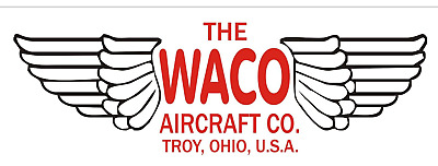 A229 The WACO Airplane banner hangar garage decor Aircraft signs