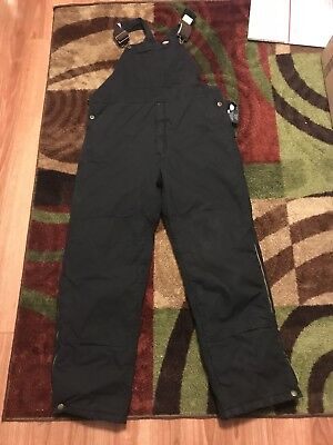 Dickie's Men's Black Insulated Bib Overalls size Large