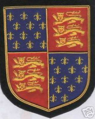 UK Britain England Medieval Kingdom Royal King Edward III Crest Arms Patch COA K