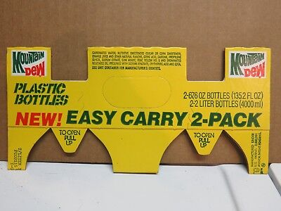 Mountain Dew Easy Carry 2-Pack Cardboard Carrier
