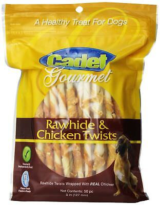 Chicken Hide Dog Treats 5 inches Pack of 50 Flavor  Chicken Size Pack of 3 New