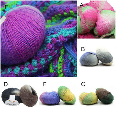50g Colorful Soft Baby Cashmere Wool Children Hand Knitting Crochet Yarn