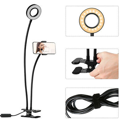 Selfie Ring 36 LED Light with Cell Phone Holder Stand for Live Stream Makeup