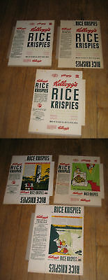 cereal box Kelloggs Rice Krispies (1 box only) 1941 Vernon Grant TOWER,unused