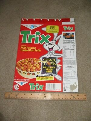 cereal box TRIX Star Trek movie 1979 trading card space rocket ship