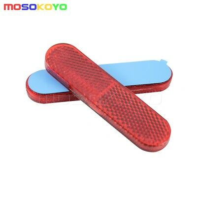 Pair Red PMMA Plastic Motorcycle ATV Car Reflective Sticker Reflector Universal
