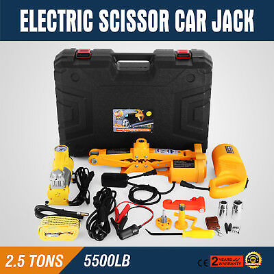 2.5 Ton Automotive Electric Scissor Car Jack Lift 12V DC 100W Car Floor Jack