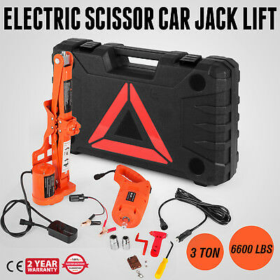 3 Ton Automotive Electric Scissor Car Jack Lift Car Floor Jack Tire Change Comie