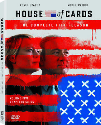 HOUSE OF CARDS: The Complete Fifth Season 5 (4-Disc DVD Boxed Set, 2017) ~ NEW