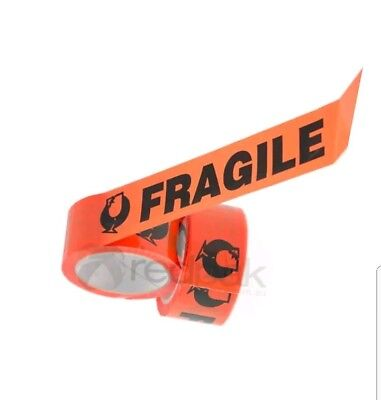 Fragile Tapes 48mm x 66m Packaging High Quality Orange & Black(New)