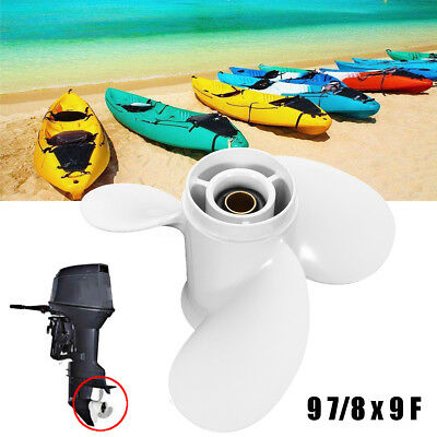 9 7/8 x 9 F Aluminium 3 Blade Right Propeller Outboard for Yamaha 20 25 30 HP