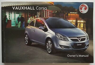 genuine vauxhall corsa d 2006 2011 owners manual handbook 11 99 rh picclick co uk Vauxhall Corsa 2018 Vauxhall Corsa 2004