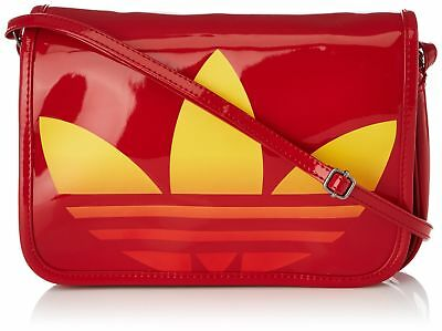 Adidas Originals Women's MINI AIRL PAT Shoulder Cross Body Bag Red One Size New