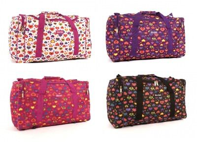 Ladies Womans Travel Maternity Overnight Gym Holdall Carry Bag Love Hearts