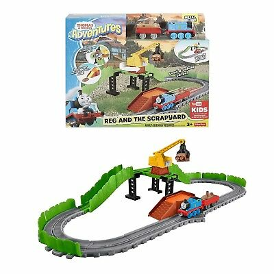 Thomas & Friends Adventures Toy Reg & The Scrapyard Fisher Price Train Set NEW