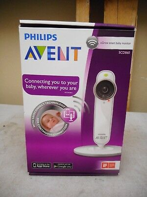 Philips Avent SCD860 /26 uGrow Smart BABY MONITOR £190 Wifi Wireless iOS Android