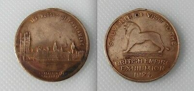 Collectable British Empire Exhibition Token - The Houses Of Parliament