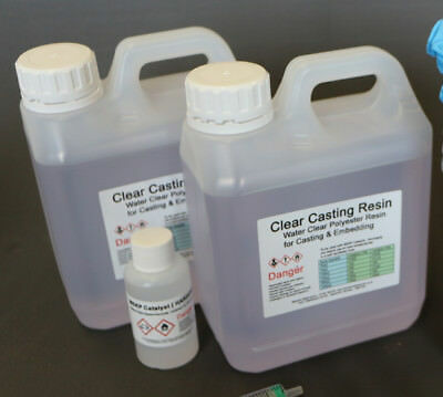 Resin 2kg Water Clear casting  Cast - Craft  Jewellery Embedding etc - BASIC KIT