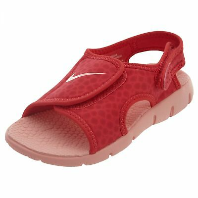 50eece20a36b9 Nike Sunray Adjust 4 Little Kids 386520-608 Tropical Pink Sandals Youth Size  3