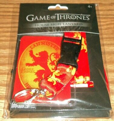 Game of Thrones House Lannister Sigil Lanyard ID Badge Holder GoT New!