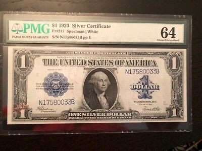 1923 $1 One Dollar Silver Certificate Currency, Paper Money, Large Size Note