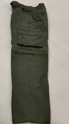 Youth 10 Boy Scouts America BSA 2-in-1 Convertible Uniform Zip Pants Shorts EUC!