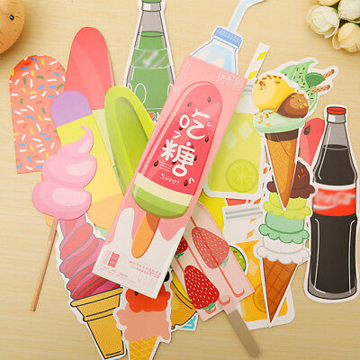 30pcs/box Vintage Soft Drink Ice Cream Summer Bookmark Paper School Kids Reading