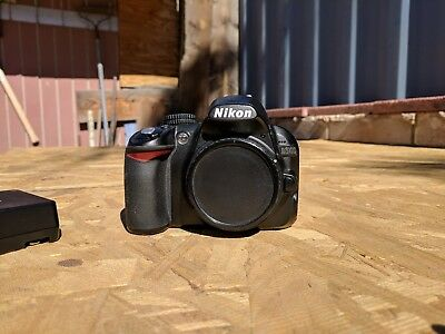 Nikon D D3100 14.2MP Digital SLR Camera - Black (Body Only) with Charger/strap