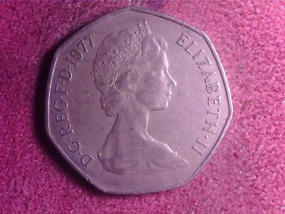 Great Britain   50   Pence   1977    Tu