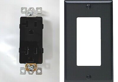 (100 pc) Decorator Duplex 20A Receptacles (100) 1 GANG MATCHING COVERS