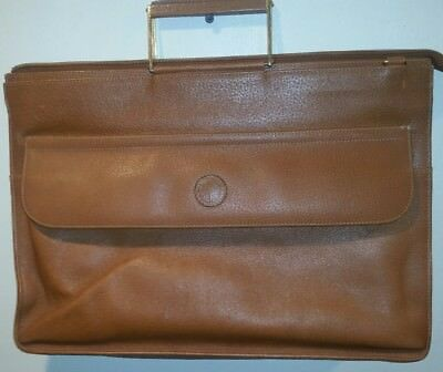 2fd3bc03637347 VINTAGE GUCCI 1960'S Brown Leather Briefcase - $150.00 | PicClick