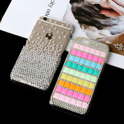 Handmade Rhinestone Crystal Case Phone Cover For iPhone 6 US