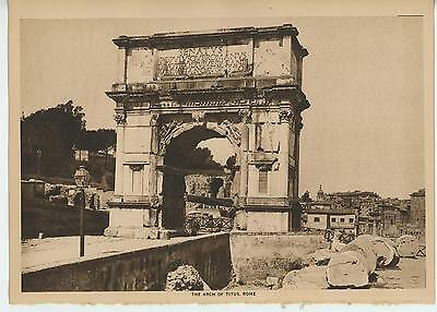 Antique Ruins Of Rome Arch Of Titus Italy Named After Vespasian 's Son Old Print