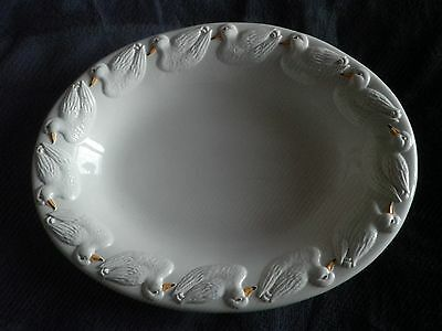 ATN Italy Large Ceramic Basin Bowl With Duck Motif Decoration Excellent Conditio