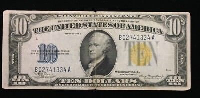 $10 US Silver Certificate Series of 1934 A North Africa Note