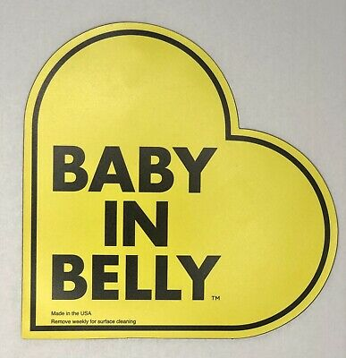 Baby in Belly Car Safety Magnet- pregnancy - maternity novelty gift