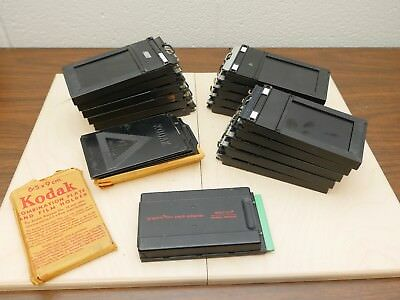 Lot of 2x3 Film Holders, Combination Plate and Film Holders, Pack Film Back