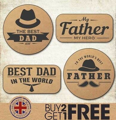 Happy Father's Day Craft/Kraft Stickers/Cards/Shop Best Dad/Daddy/Labels