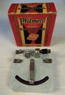 Philmore Little Wonder Crystal Radio in Original Box