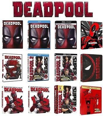 DEADPOOL Home video Collection (DVD, BLU-RAY, BLU-RAY 4K UHD, STEELBOOK) MARVEL
