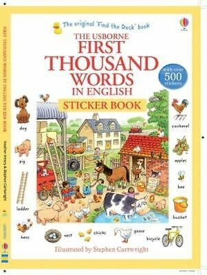 First Thousand Words in English Sticker Book by Heather Amery (Paperback, 2014)