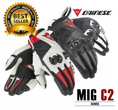 Dainese MIG C2  Genuine Leather Motorcycle Gloves All Colours & Size