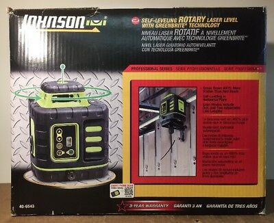 Johnson 40-6543 Self ­Leveling Rotary Laser Kit with GreenBrite Technology