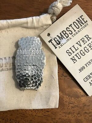 5 oz Silver Bar Tombstone Silver Nugget